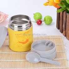2015 stainless steel baby feeding bottle with spoon