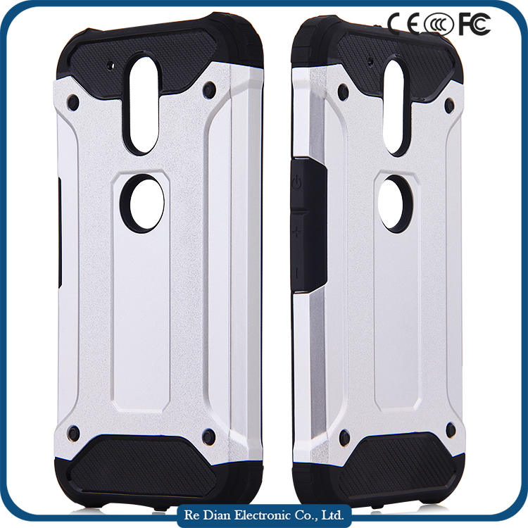 Low MOQ PC TPU Shockproof Mobile Phone Rugged Hybrid Back Cover Case for Moto G4 / G4 Plus