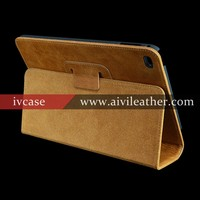 Retro Book Leather Covers For Leather iPad Mini 2 Cases with Stand Flip Magnetic Closure