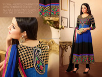 Latest Bollywood Long Salwar Kameez Suit Designer Anarkali Dress R2438