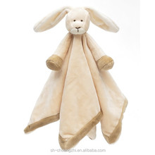 adorable Rabbit comforter security blanket for young babies cuddle plush blanket