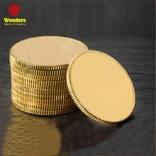High quality custom brass stamping blank metal coins