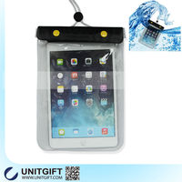 2015 Factory sell mobile phone pvc waterproof bag for ipad, for mini ipad waterproof bag