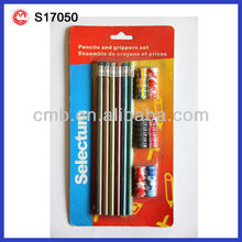 COLOUR WOODEN GLITTER PENCIL WITH GRIP