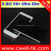 Good New Phone Android 4.4 Smartphone 5.5 Inch Big Screen X-BO V8+ 512MB RAM 4GB ROM 3G GPS WIFI low Price China Mobile Phone