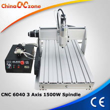 Machinery for drilling metal wood and pcb/pvc/ acrylic board CNC 6040Z-S65J 3 axis with 1500w spindle