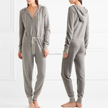 Cozy Hood And Adjustable Drawstring Waist Cashmere Jumpsuit For Women Onesie Adult Family Matching Pajamas 2016 HSJ5856
