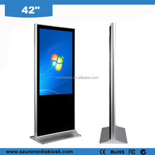 Floor stand advertising wifi full HD 42 inch interactive led all in one pc kiosk