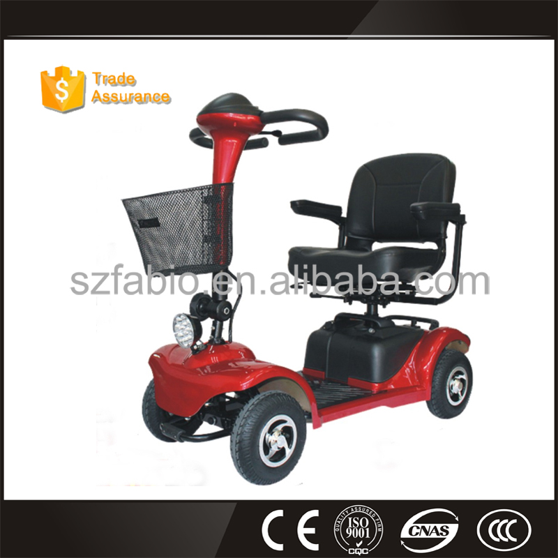 XuanLong four wheel scooter with detachable canopy windscreen for disabled man