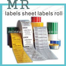 Provide self adhesive label sheet in roll,glossy roll adhesive printing paper labels sheet