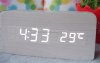 2014 newest best table alarm clock wooden led digital display clock