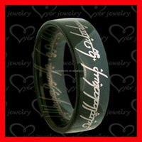 2016 Alibaba hot sale black tungsten ring wedding jewelry