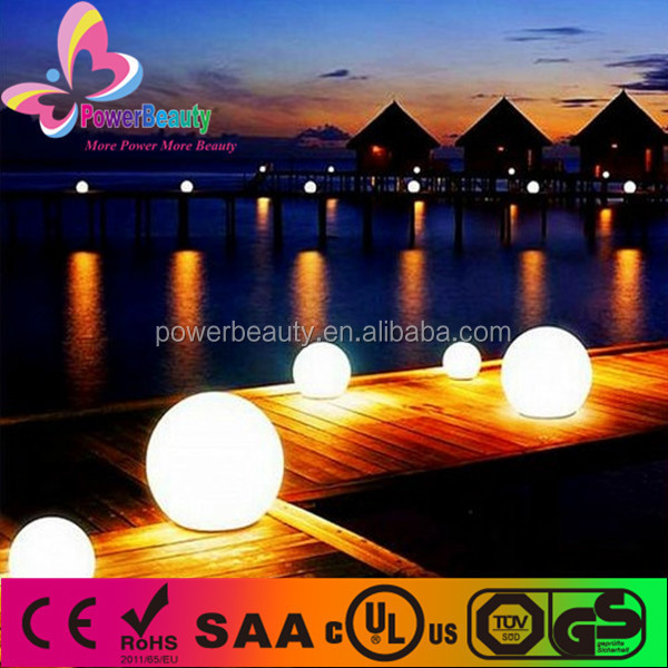 solar operated led glowing outdoot led lighting remote control solar garden led light ball