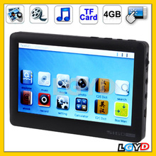 High quality V100T 4.3 inch Touch Screen 4GB Superior MP4 player, Support E-Book, Games, TV Out, TF Card Slot, Removable Battery