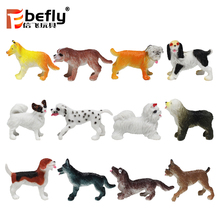 2018 new toy small plastic dog figurines for kids play
