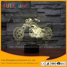 FS-3409 motorcycle Acrylic material and CE certificate standard 3d night light
