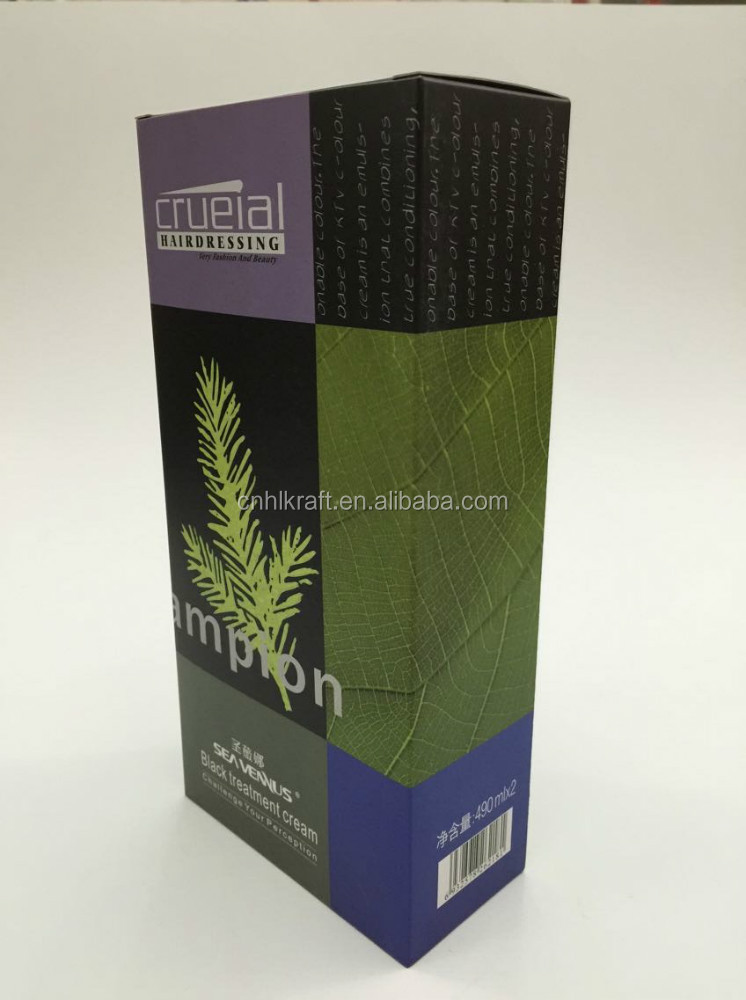 CCNB printed cardboard packaging box for hair products