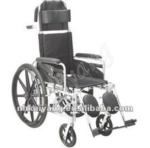 Aluminum Lightweight Children Manual Wheelchair with reclining high back 160 degree adjustable KY954LBRGC