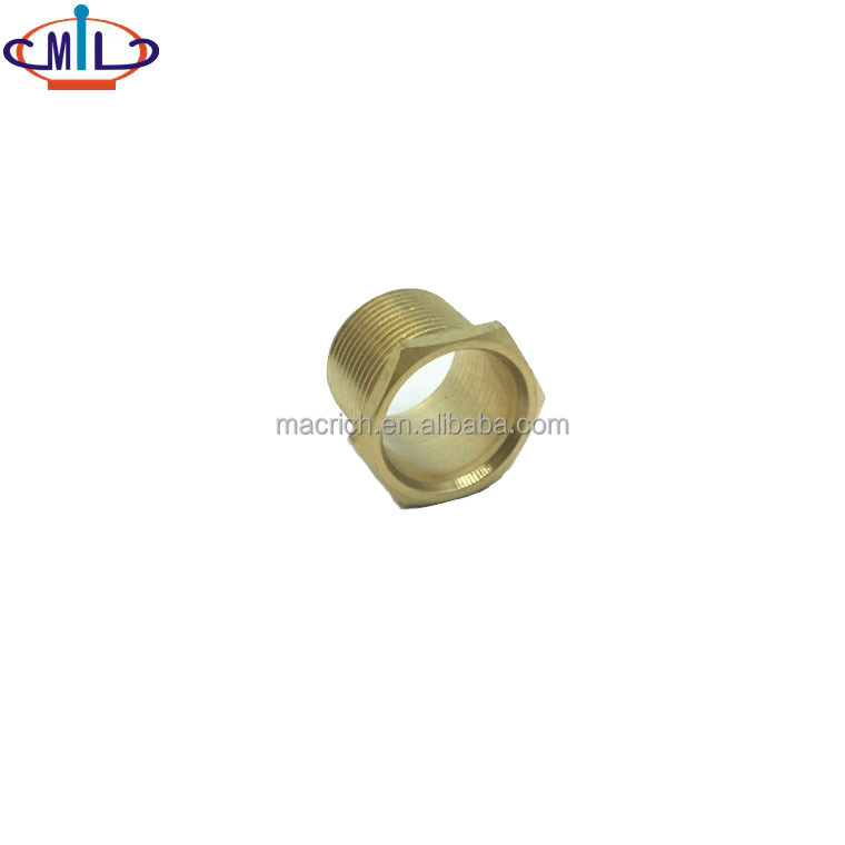 Long Male thread brass bush of electrical conduit bushing