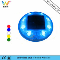 New trendy blue led flashing light solar powered plastic road stud reflectors