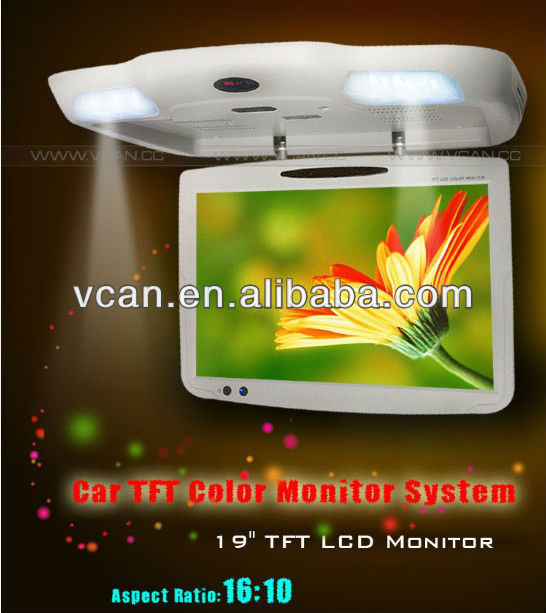 19 inch USB monitors Roof Mount with DVD player