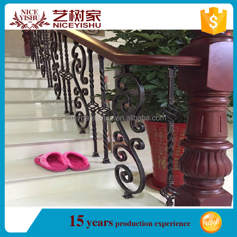 Yishujia factory Used for Home Garden Wrought Iron Railing, iron stair decorative panels, wrought iron balusters for home