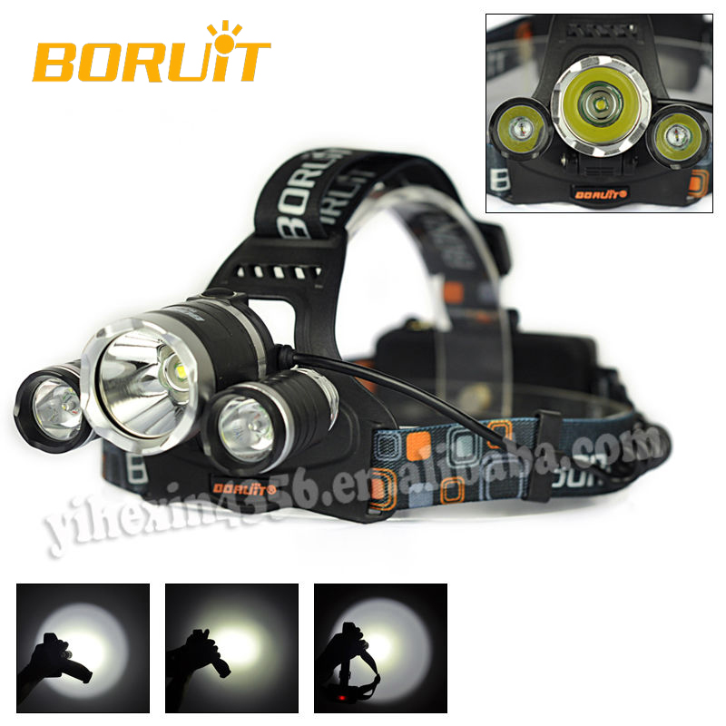 Boruit 5000LM High Power Outdoor Sports Headlamp / LED Headlight