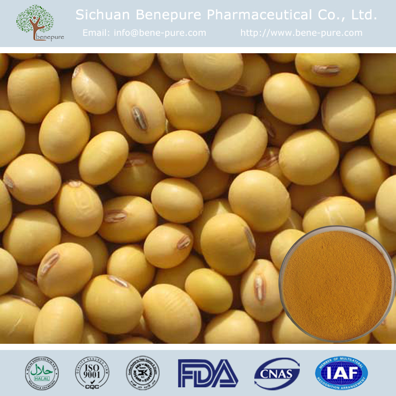 Total Natural Soy Isoflavones 40% 60% 100% bioflavonoids for food supplement and cosmetic