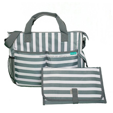 Diaper bag by mega rayson stylish stripes, functional baby stroller organizer