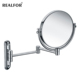 20x Large Bathroom Wall Mounted Folding illuminated Make-up Concave Compact Metal Makeup Mirror Round Professional Wholesale