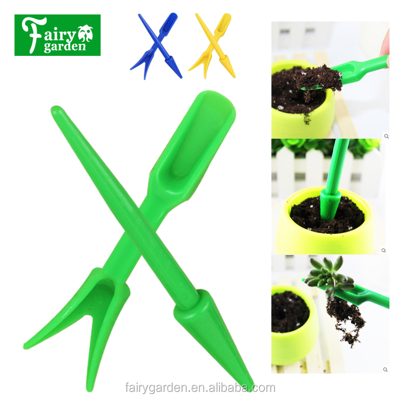 2pcs/set Transplanting Device Planters Dig Tool for Seedling Garden Nursery Trays