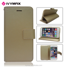 Hot Selling Mercury Golden Rich Diary Stand Wallet Leather Case with Credit Card Pockets Flip Cover For Iphone 6