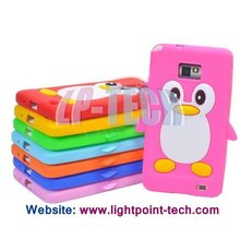 TPU Cartoon penguin gel case for samsung galaxy s2