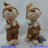 Decorative lovely boy resin mini figurines