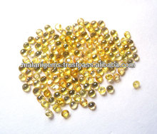 Yellow Sapphire Round Cut Natural Loose Gemstones