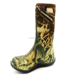 2015 printed knee high boots with Neoprene