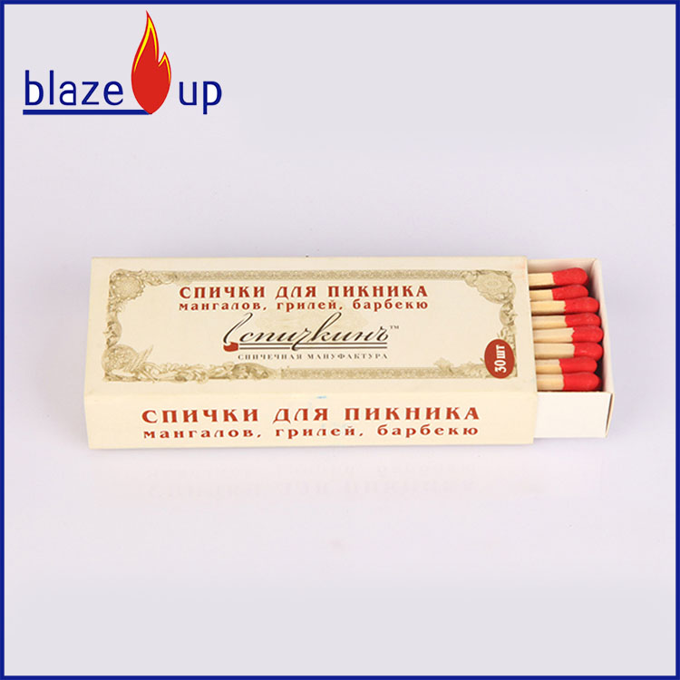 Extra long safety matches with best quality long fireplace matches