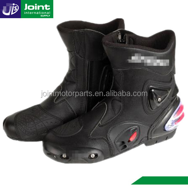 Racing Leather Boots Motorcycle Racing Shoes for Men Motorbike Leather Racing Boots
