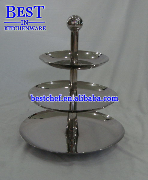 3-tiers stainless steel fruit pan