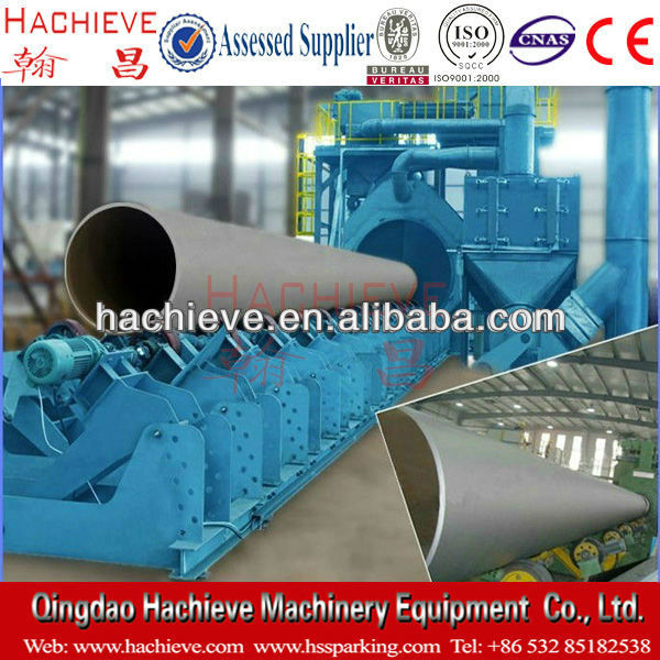 Japan outer pipe shot blasting machine/tube shot blasting machine