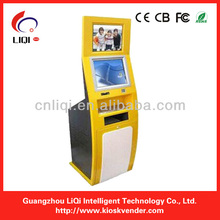 Touch Screen Payment Terminal Cell Phone Charging station Kiosk With Card Reader