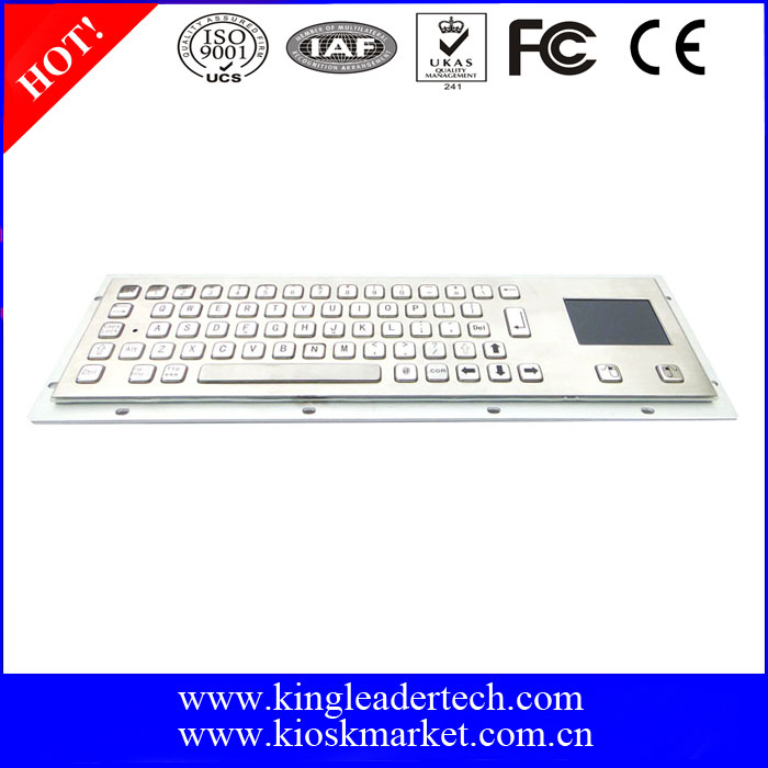High Quality Stainless Steel Metal Keyboard with Touchpad