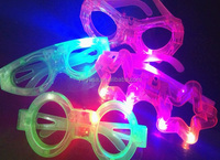 Wholesale Luminescence glasses butterfly design LED light party glasses
