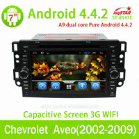 Android 4.4 Car auto radio GPS navi with 3G WIFI OBD2 for Chevrolet Aveo(2002-2009) car dvd player