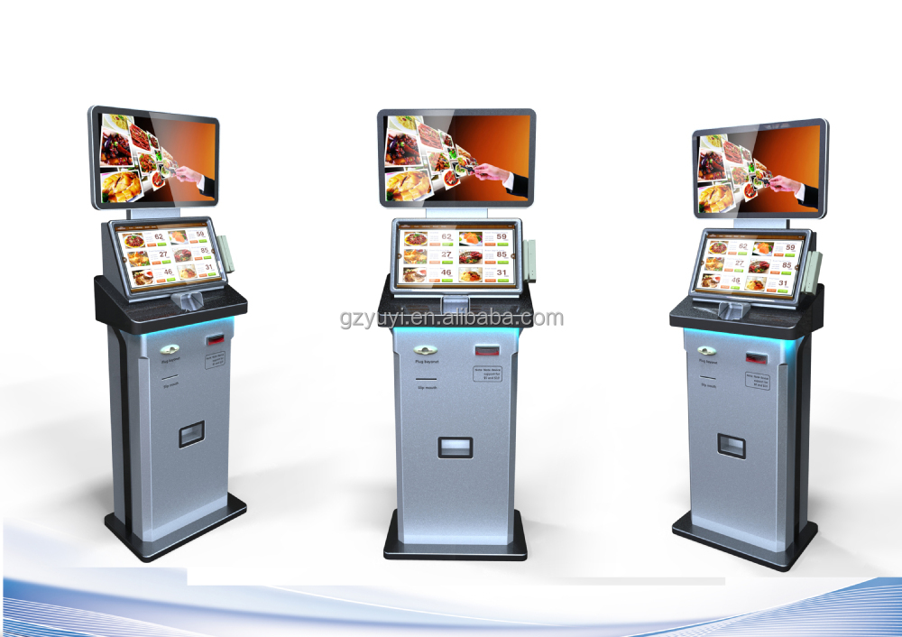 Automatic self service ordering payment kiosk machine