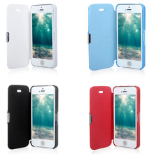 Final Clearance For iPhone 5 5S Flip Leather Magnetic Phone Cases Hard Cover Protective Shell High Quality