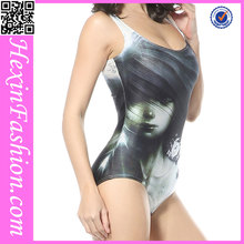 Lover-beauty Eco-friendly Figure Pattern Hot Women One Piece Swimsuit