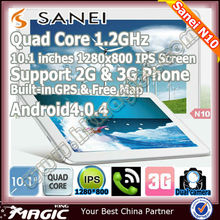 10.1 inch android quad core brand name tablet pc