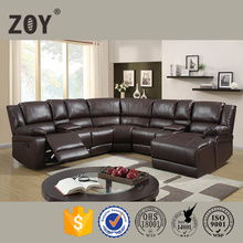 event furniture, sectional leather sofa,Corner sofa furniture,Reclining house sofa set with drop down table 96180