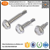 Carbon Steel Speical Head Self Tapping Screw With Nickel Plated Flat Tail ISO/TS16949 Passed